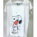 Camiseta snoopy loves Supreme
