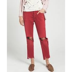 Jeans red envy hooligans oneteaspoon