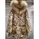 Parka animal print fur