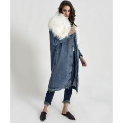 One teaspoon maxi denim coat