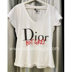 Camiseta Dior not Grey