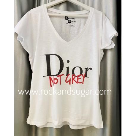Camiseta Dior not Grey
