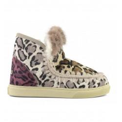 Mou Eskimo sneaker mix patchwork mink fur trim