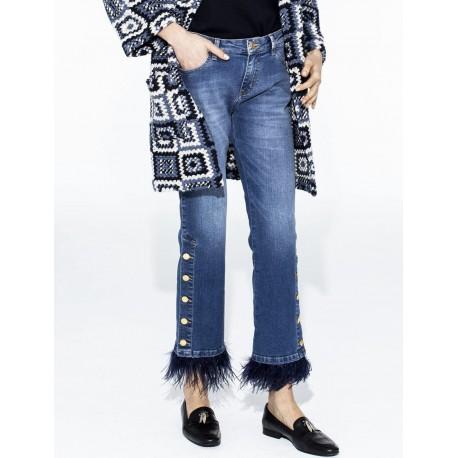 Jeans plumas