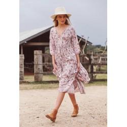 Shorelines print midi dress