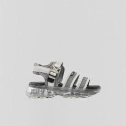 Sandalias Bubbly blanco roto/plata