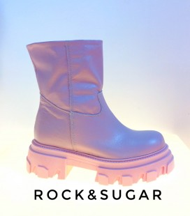 Combat boots R&S pink