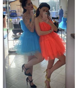 Candy dress naranja flúor