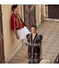 Vestido midi étnico