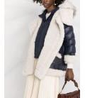 Abrigo borreguito eco azul
